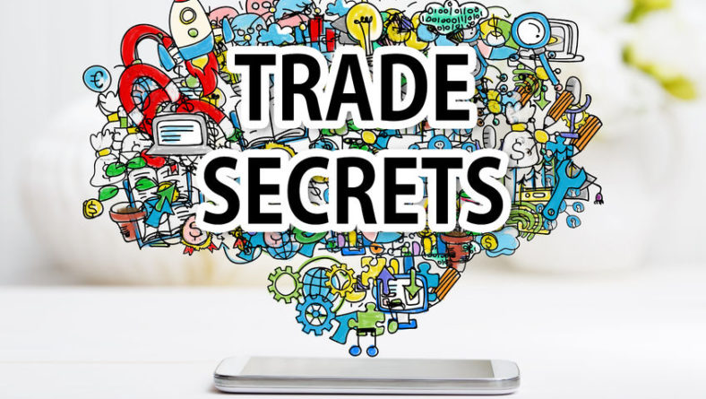 64891117 – trade secrets concept with smartphone on white table